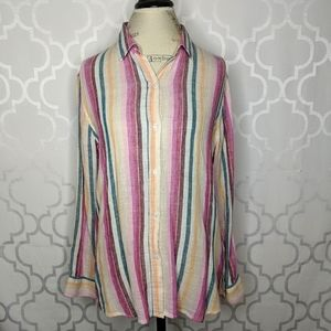 Rails Sidney Avila Striped Button Down Top